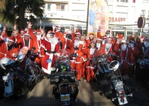 Christmas Fathers meeting in France on 2 wheels