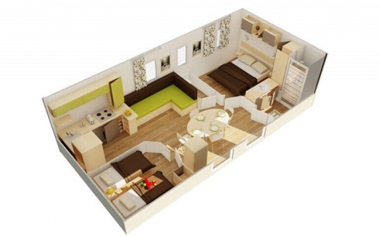 6 Plan Mobil home 2 chambres